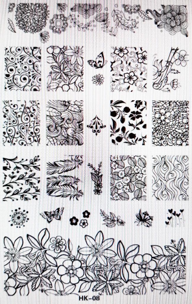 Stamping Plantilla HK3 - FN ELITE Profesional Nails