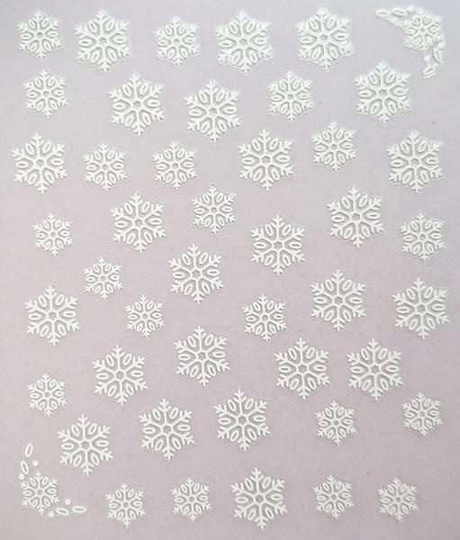 Pegatina Copos Navidad blanco II - FN ELITE Profesional Nails